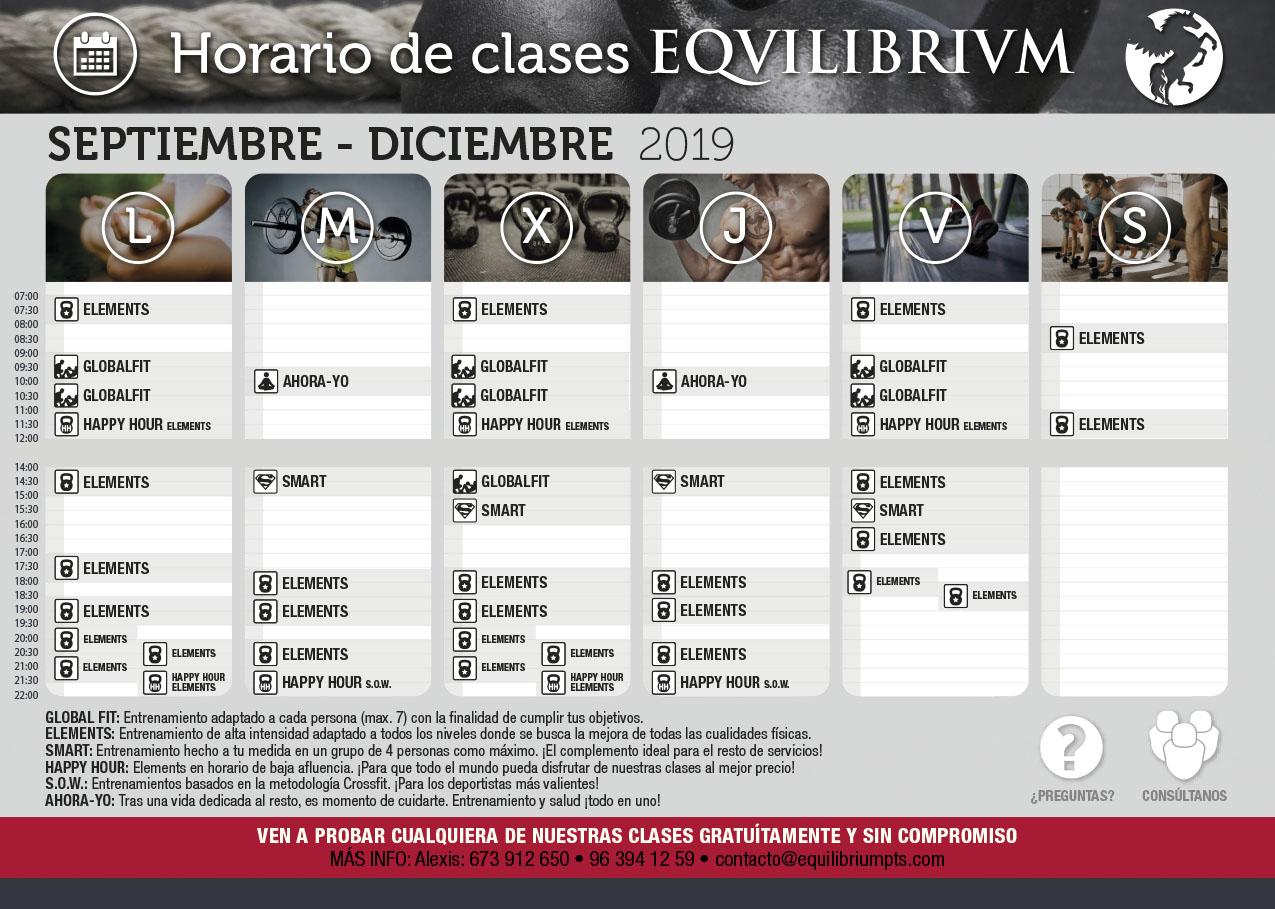 Horario Equilibrium Torrente Valencia